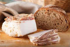 Ukrainian lard. Stock Image Royalty Free Stock Photos