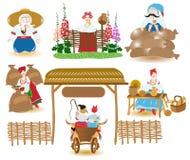 Ukrainian market place Stock Images