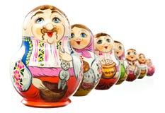 Ukrainian matrioshka doll isolated. clipping path Royalty Free Stock Photo