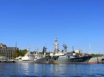 Ukrainian military ships docked in Sevastopol, Crimea Royalty Free Stock Photography