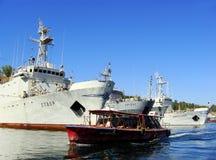 Ukrainian military ships docked in Sevastopol, Crimea Stock Photo