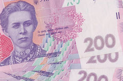 Ukrainian money. Bills close-up Royalty Free Stock Image