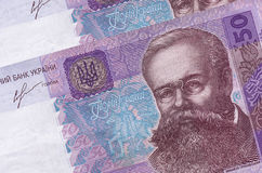 Ukrainian money. Bills close-up Royalty Free Stock Photos
