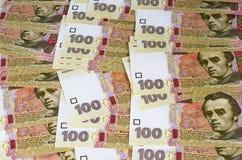 Ukrainian money (hryvnia). The Ukrainian money for a table as a background Royalty Free Stock Photos