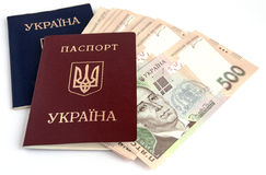 Ukrainian money. Royalty Free Stock Photo