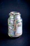 Ukrainian money in the jar Stock Photos