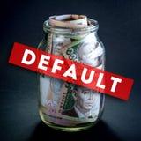 Ukrainian money in the jar Stock Images