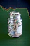 Ukrainian money in the jar Stock Photography