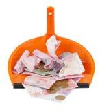 Ukrainian money in scoop Royalty Free Stock Photo