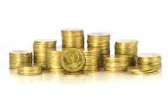 Ukrainian money. Ukrainian small money 50 coin royalty free stock images
