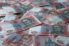Ukrainian money UAH Stock Images
