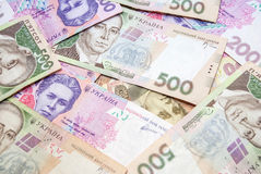Ukrainian money - UAH. Background of the Ukrainian money - UAH Royalty Free Stock Photos