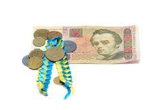 Ukrainian money on a white background Royalty Free Stock Images