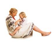 Ukrainian mother and daughter Royalty Free Stock Photos