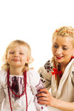 Ukrainian mother and daughter Stock Photography