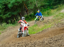 Ukrainian Motocross Championship Stock Photos