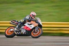Ukrainian motordrome Chaika - Superbike  Ring Race Royalty Free Stock Photos