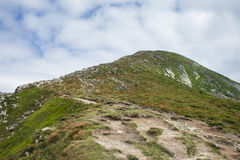 Ukrainian mountains. Top of the mountain Goverla Stock Image