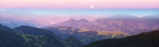 Ukrainian mountains in Verkhovyna Royalty Free Stock Images