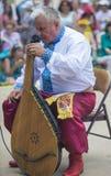 Ukrainian musician with bandura Stock Photo