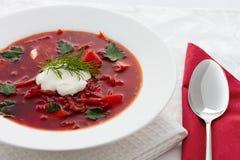 Ukrainian national borscht Royalty Free Stock Images