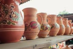 Ukrainian national ceramic tableware Stock Photos