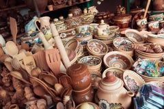 Ukrainian national ceramic tableware Stock Photography