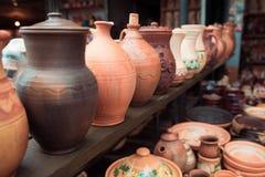 Ukrainian national ceramic tableware Stock Image