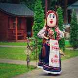 Ukrainian national clothes.Worker in the field of entertainment. Royalty Free Stock Photo