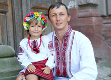 Ukrainian national costumes Stock Photos