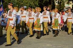 Ukrainian national costumes parade