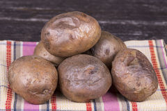 Ukrainian national dish is baked potatoes Royalty Free Stock Image
