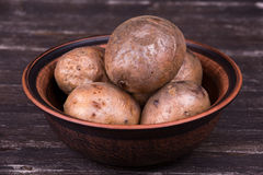 Ukrainian national dish is baked potatoes Stock Photography