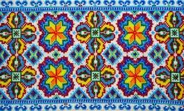 Ukrainian National Embroidery. Close Up. Stock Image