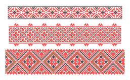 Ukrainian national embroidery. Cross-stitch embroidery in Ukrainian style Royalty Free Stock Photography
