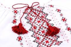 Ukrainian national embroidery shirt Stock Images