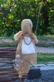 Ukrainian national folklore doll motanka on view Stock Photography