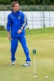 Ukrainian National football team. KHARKIV, UKRAINE - MAY 22: Ukrainian National football team player Marko Devic during visit to Superior golf club, May 22, 2010 stock photos
