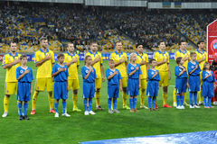 Ukrainian national football team Royalty Free Stock Image