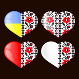 Ukrainian National  heart Royalty Free Stock Photography