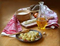 Ukrainian national lean meat dumplings Stock Photos