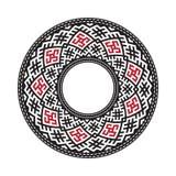 Ukrainian national vector rosette. Ukrainian national round pattern, vector royalty free illustration