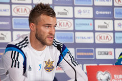 Ukrainian national soccer team player Andriy Yarmolenko Royalty Free Stock Image