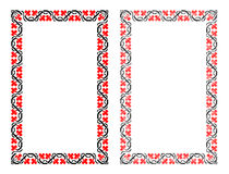 Ukrainian national Ukrainian pattern border. Cross-stitch embroidery in Ukrainian style Stock Image