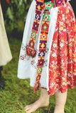 The Ukrainian national women's suit. Shirt, embroidery Royalty Free Stock Images