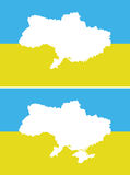 Ukrainian New and old border of the state. Royalty Free Stock Photography
