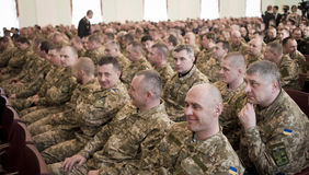Ukrainian officers Royalty Free Stock Photography