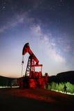 Ukrainian oil rocking in the Carpathians Royalty Free Stock Photo