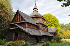 Ukrainian old wooden Church Stock Images