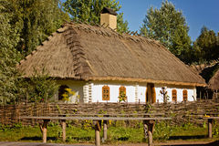 Ukrainian old house in the village Royalty Free Stock Photo
